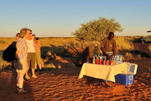 Travel group in Namibia